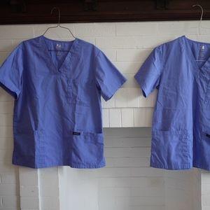 Dagacci Scrubs Set of 2, Ceil Blue